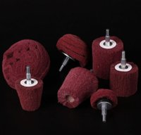 Wholesale 7Pcs Of Medium Grit Mounted Sanding Mop Polishing Pad Mop Wheel Set mm Shank