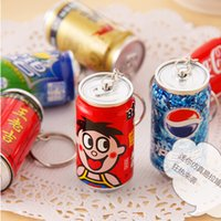 Wholesale 100pc Creative Cute Drink Cans design Telescopic ball point pen with Key buckle DIY Multifunction pen Funny free ship