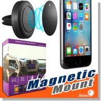 оптовых держатель вентиляционного отверстия-Автомобильное крепление, Воздухоотводчик Магнитный универсальный держатель для автомобильного держателя для iPhone 6 / 6s, одношаговый монтаж, усиленный магнит, более безопасное вождение