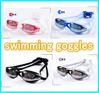 Wholesale NEW Swimming Goggles Swim Glasses Waterproof Anti fog UV protected dustproof Plating PC lens Adjustable Strap Water Sportswear for Men Women