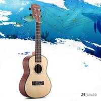 Wholesale ammoon quot Spruce Ukulele Sapele Ukelele Rosewood Fretboard Strings Musical Instrument New Year s Day Gift Present I1642
