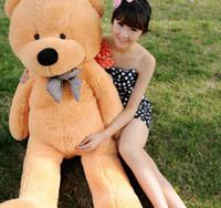 Wholesale 2016 Hot FEET TEDDY BEAR STUFFED LIGHT BROWN GIANT JUMBO quot size cm birthday gift