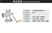 Wholesale 2016 NEW Meat Slicer Hand Cast Iron Manual Meat Grinder Mincer Machine Sausage Table Crank Tool for Home Kitchen Cutter Slicer Beef