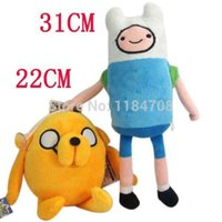 adventure time toys plush - 2pcs Adventure Time Plush Toys Finn and Jake Adventure Time Plush Stuffed Movice Cartoon Toy Anime toys for children A2