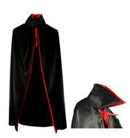 big men costumes - Halloween costume Death big black hooded cloak Black Death cape long cloak Devil