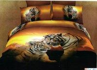 Cheap Leopard animal print comforter cover ,100% cotton 500TC tiger bedspreads,queen size animal tiger bedlinen sheet