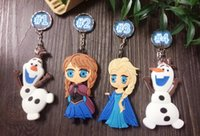 Wholesale 2014 New Frozen Queen Olaf Double Sided Design Sisters Key Ring Key Chain Bag Ring Bag Chain