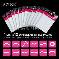 art forms - 1 packs French Manicure Nail Art Tips Nail Sticker Nail Art Form Fringe Guides Sticker DIY Nail Decoration