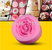 Wholesale 100pcs D silicone fondant mold rose chocolate moulds arts tools for larger DIY cake decoration tools DTR