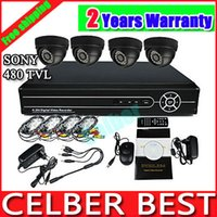 Wholesale Sony TVL IR CCTV bullet waterproof security surveillance video monitor camera install system zoom lens