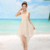 Cheap 2015 bridesmaid dress one-piece short prom dress short design evening dress the bride married female costume small evening dress