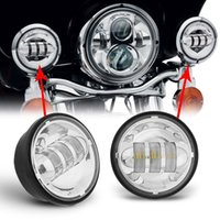 auxiliary motorcycle lights - 4 quot inch LED Passing Light for Harley Davidson Fog Lamps Auxiliary Light Bulb Motorcycle Daymaker Projector Spot Driving Lamp