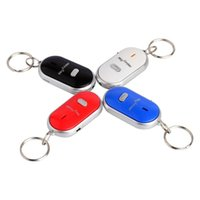 Wholesale 2015 retail LED Key Finder Locator Find Lost Keys Chain Keychain Whistle Sound Control UK colorful