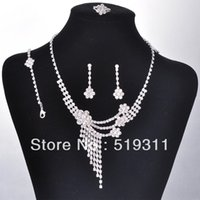 Wholesale New model inviting Jewelry Set Clear Rhinestone Set rhinestone jewelry sets for wedding in high quality