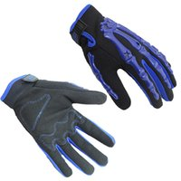 Wholesale Men Women Motorbike Racing Gloves Skeleton Hands Gloves Bike Bicycle MTB Cycling Full Finger Protective Gloves Black Red Blue