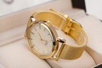 Cheap car New Fashion Classic Luxury Women Golden Watch Plated Metal Mesh Band Round Dial Quartz Analog Wrist Watches Relogios Femininos