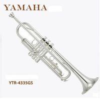 Wholesale Gratis pengiriman trumpetTube terompet Instrumen profesional YTR4335GS instrumen tembaga perak jatuh B terompet