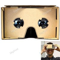 Wholesale Unassembled DIY Google Cardboard Cellphone Virtual Reality D Glasses for iPhone Samsung Cellphones EPATH