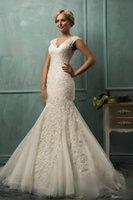 Cheap Beach Wedding Dresses Best Satin Mermaid Bridal Gown