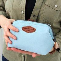 Wholesale 10 Korea lovely portable cosmetic bag Multifunctional fashion cotton wash bag Cosmetic steel