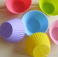 Wholesale Silicone Baking Cake Soap Chocolate Mold Silicone Muffin Cup Liner DIY Fondant Cake Reusable BPA Free Muffin Cups