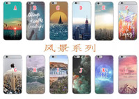 beautiful rivers - Morder City For iphone S Plus S Stunning Painted Printing River Sea Back Skin beautiful Senery Nature Patterned Hard PC Case Skin