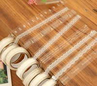 Wholesale Small fresh transparent lace decoration tape meters long small volume diy baking package