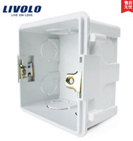 Wholesale Free Choose White Plastic Materials mm mm UK Standard Internal Mount Box for mm mm Standard Wall Light Switch