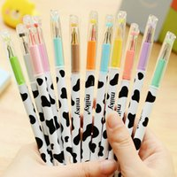 Wholesale 36pcs New Cute Cartoon Kawaii Colorful Gel Pen Milky Style Pens For Kids Girls Creative Gift