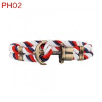 anchor party - PH weave rope personalized cotton rope vitage anchor rope men bracelet with bag