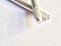 Wholesale 10pcs D Embroidery Eyebrow Manual Tattoo Pen for microblading Permanent Makeup cm Eyebrow Tattoo Manual Pen Sliver Tattoo Gun