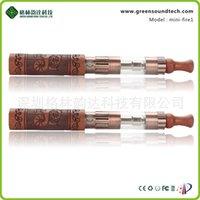 Wholesale green wooden material environmentally friendly economically healthy safe copper red electronic cigarettes with caving twelve constellations