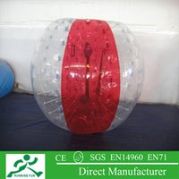 Cheap Free shipping hot sale 0.8mm pvc 1.5m diameter red and clear inflatable human hamster ball with air pump for sale IBB-07