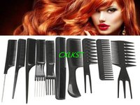 Wholesale 10 Piece Salon Hair Styling Hairdressing Hairdresser Barbers Plastic Combs Set Brand New Hot