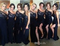 Cheap Wholesale 2015 Formal Chiffon Bridesmaid Dresses Gowns For Teens Young Girls 2014 Appliques Beading One Shoulder Bridal Party Evening Dress