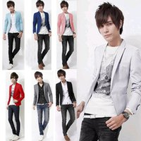 Wholesale Mens fashion Business Blazer slim Jacket casual Suits Blazers Coat Button suit men Formal jacket jaqueta esport M XL Chaqueta