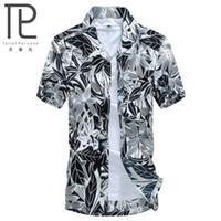 hawaiian shirts - Hot style Brand shirt Hawaii Men s Hawaiian Beach Shirt Men Short Sleeve Floral Loose Casual Shirts Plus Size L XL
