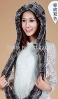 Wholesale Real knitted REX rabbit fur hat ear muff earwarmer scarf cap Hat Scarf Set soft and fashionable use colors shipping free