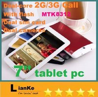 3g gps 7inch tablet pc - 7inch G G Phone Call tablet pc MTK8312 Android Dual Core Wifi Built in GPS Bluetooth Dual Cameras Phablet Tablet PC MB G DHL