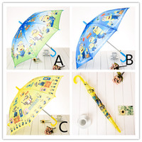 Wholesale girls boys New Despicable me Umbrella Student Rain and Sun Proof Princess Umbrellas Snow White Long handle Snow White