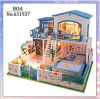 Wholesale Diy Doll House D Miniature Model Building Kits Wooden Handmade Dollhouse Toy Birthday Greative Gift You Are Come Form The Star