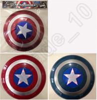 Wholesale 10PCS HHA529 Super Hero the Avenger Marvel Captain America Shield Kids Toys Gift for Cosplay can make sound