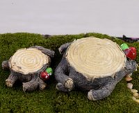 Wholesale 2pcs anime totoro mushroom stump small Fairy garden Decoration resin craft bonsai tools Gnome terrarium Moss Jardim miniature