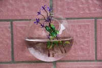 Wholesale Clear Transparent Hanging Glass vase Air Plant Wall Glass Terrarium hanging Wall Bubble Terrarium for wall decor home party decoration