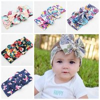 Wholesale baby flower wide headbands childrens christmas hair accessories girls big bows hair bands kids boutique hair bows cotton elastic headwrap