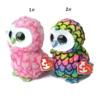 barn owl - Styles Original TY Collection Brown Owl Barn Plush TY Cute Owl Toys Dolls for Christmas Gifts for Boys Girls LNF