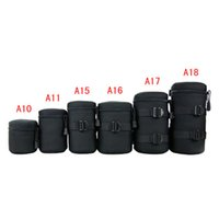 barrel sleeve - Waterproof DSLR SLR Camera Lens Barrel Bag Sleeve Thick Crashproof Pockets kit for Canon for Nikon Camera Lens Barrel High Quality