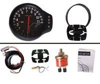 Wholesale AP DECS quot mm in1 oil Temperature Pressure Rev Gauge Tachometer face black original color box TK APX8000B