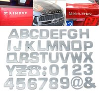 car accessories logo - 2015 Personalized D Car Stickers DIY Car Decals Stickers Numbers Letters Auto Emblems Car Sign Accessories Logos Mix Styles Choose QBX