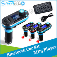 Stereo   Car Bluetooth MP3 Player FM Transmitter Hands-free Car Kit speakerphone with Cigarette Lighter charger Dual USB adapter for Phone PC